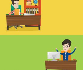 Work flat design vector