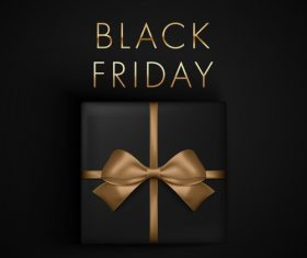 Wrapping gifts black friday flyer vector