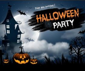 You are invited halloween party vector