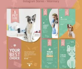Your best choice veterinary clinic flyer vector