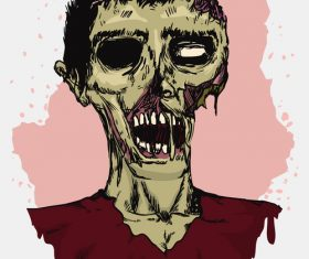 Zombie illustration vector