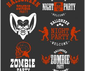 Zombie party halloween concept vector