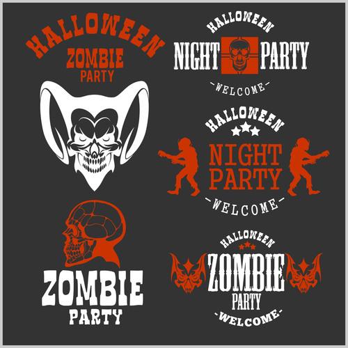 Zombie party halloween concept vector