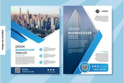 flyer template brochure vector