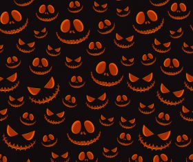 halloween pumpkin eyes black vector