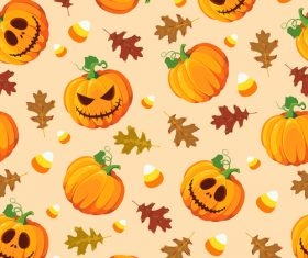 halloween pumpkin oak sweets orange vector