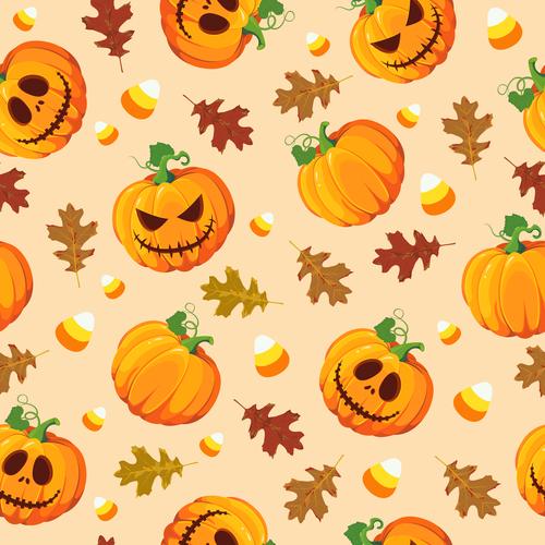 halloween pumpkin oak sweets orange vector