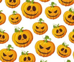 halloween pumpkin white vector