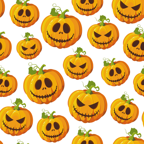 halloween pumpkin white vector