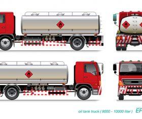 10 ton fuel tank truck vector