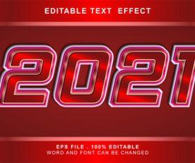 2021 3d editable text style effect vector