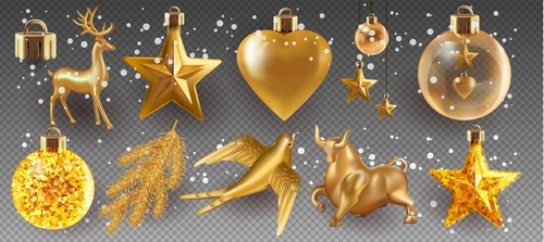 2021 Christmas decoration elements vector