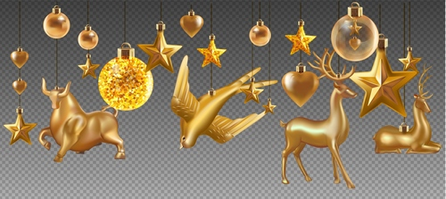 2021 Christmas decoration toy pendant vector