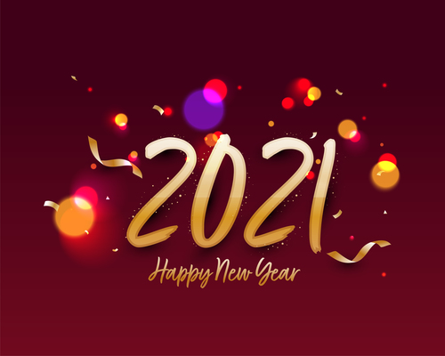 2021 colorful text design vector