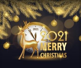 2021 merry christmas background vector