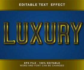 3D luxury editable text style effect vector