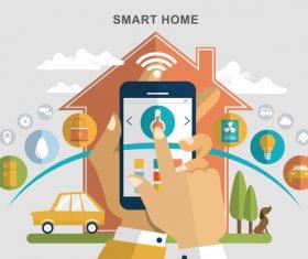 3D smart home control vector