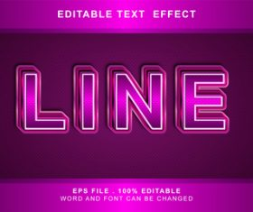 3d pink editable text style effect vector