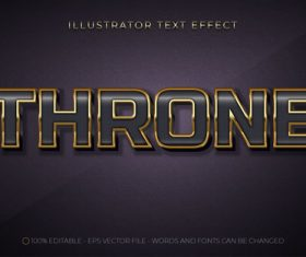 3d throne editable text style effect vector