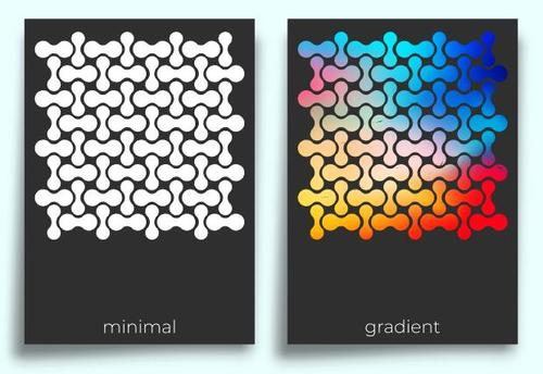 Abstract pattern poster design vector