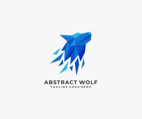 Abstract wolf logos vector