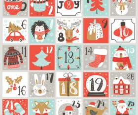 Advent Christmas calendar vector