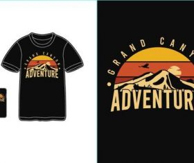 Adventure T-shirt merchandise print vector