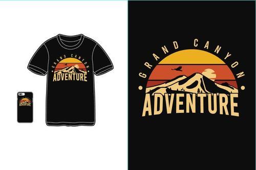 Adventure T shirt merchandise print vector