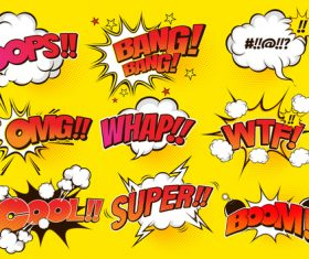 All kinds of comic bubbles vector