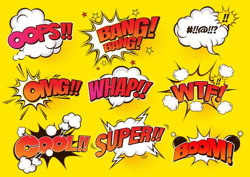 All kinds of comic bubbles vector