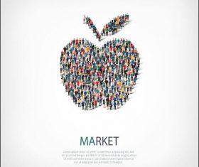 Apple mix icon vector