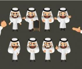 Arab man cartoon vector
