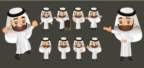 Arab man cartoon vector