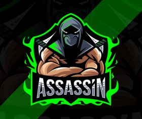 Assassin esport logo vector