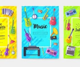 Audio tools template of flyer vector