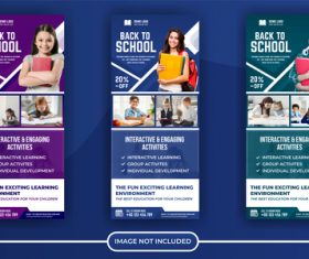 Back to school poster banner vector