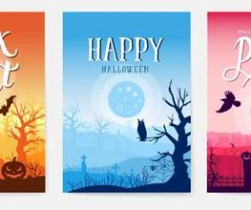 Banner happy halloween vector