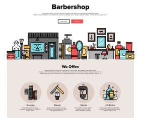 Barbershop flat graphic vector concept