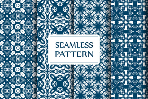 Baroque style seamless background vector