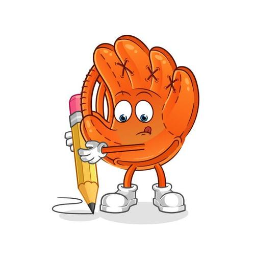 Baseball glove cartoon icon vector