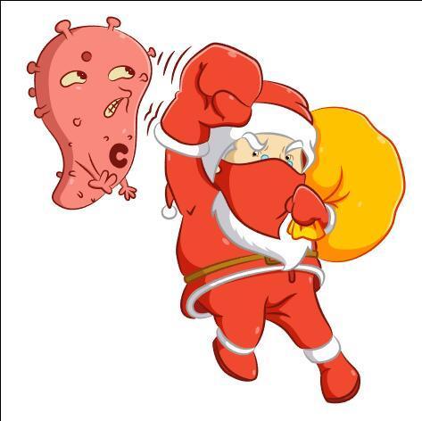 Beat the virus santa vector