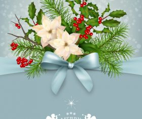 Beautiful Christmas greeting card vector