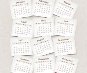 Beige 2021 calendar vector