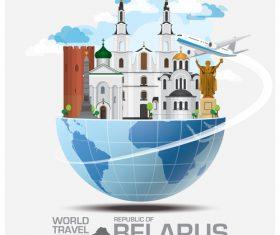 Belarus famous tourist attractions concept vector