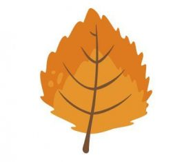 Birch leaf vector