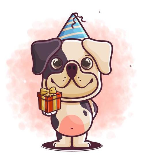 Birthday gift cartoon icon vector