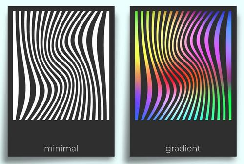 Black and color abstract pattern poster design vector