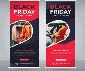 Black friday business flyer vector