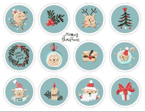 Blue Christmas themed vector