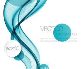 Blue dynamic abstract background vector